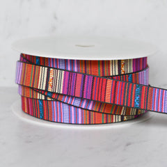 Southwest Stripe Faux Leather Strapping 1 inch - Trim - Style Maker Fabrics