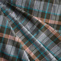 Brushed Plaid Shirting Brown/Peach SY - Sold Out - Style Maker Fabrics
