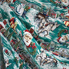 Christmas Traditions Rayon Shirting Jade SY - Sold Out - Style Maker Fabrics