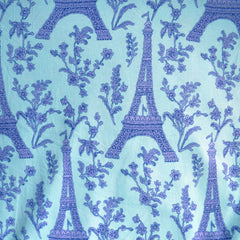 BedHead Eiffel Tower Jersey Knit Aqua SY - Sold Out - Style Maker Fabrics