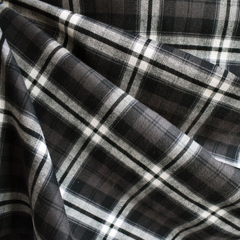 Plaid Flannel Shirting Black/Brown