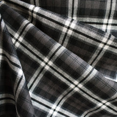 Plaid Flannel Shirting Black/Brown - Fabric - Style Maker Fabrics