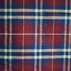 Plaid Flannel Shirting Burgundy/Navy - Sold Out - Style Maker Fabrics