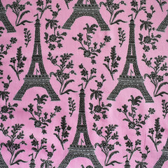 BedHead Eiffel Tower Stretch Sateen Pink - Fabric - Style Maker Fabrics