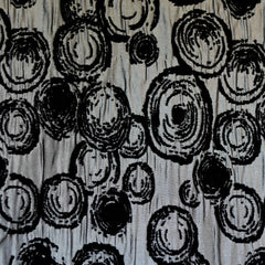 Mod Circle Chenille Jacquard Black/Grey - Fabric - Style Maker Fabrics