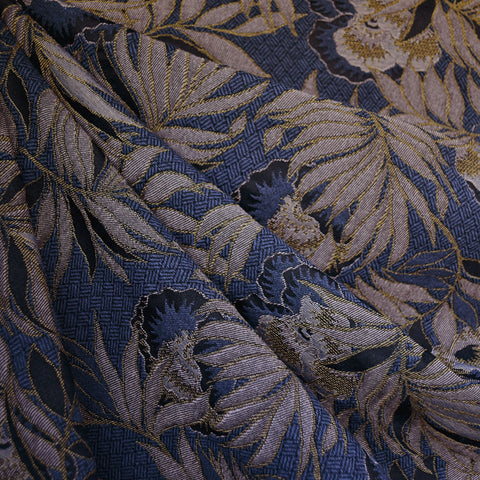 Orchid Floral Jacquard Navy/Blush