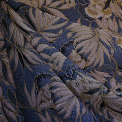 Orchid Floral Jacquard Navy/Blush - Fabric - Style Maker Fabrics