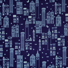 Metropolis Cotton Lawn Navy SY - Sold Out - Style Maker Fabrics