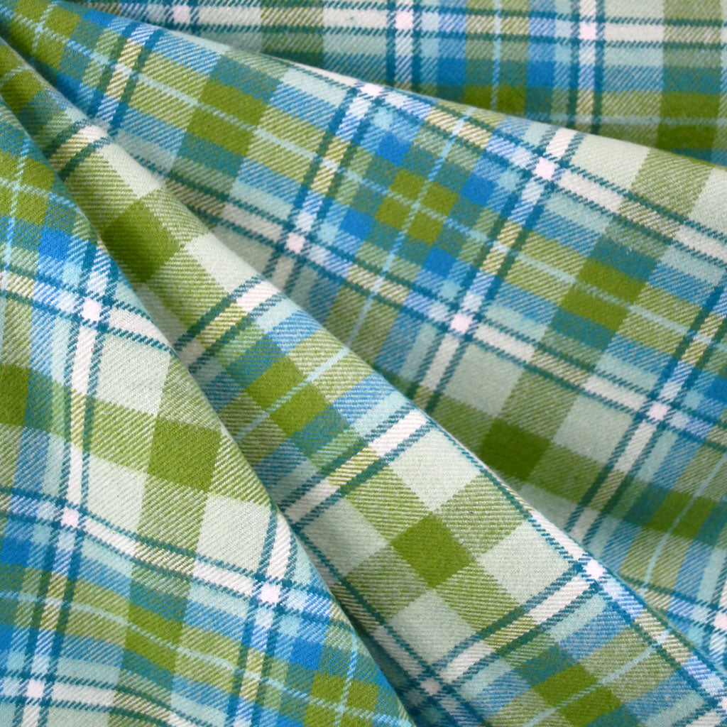 Cozy Cotton Flannel Plaid Olive - Sold Out - Style Maker Fabrics