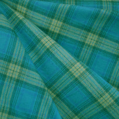 Cozy Cotton Flannel Plaid Teal/Lime - Fabric - Style Maker Fabrics
