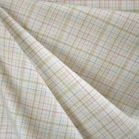Cozy Cotton Flannel Tonal Plaid Vanilla