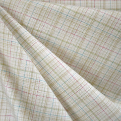 Cozy Cotton Flannel Tonal Plaid Vanilla - Sold Out - Style Maker Fabrics