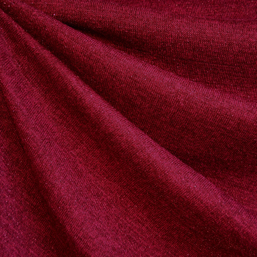 Sparkling Tonal Sweater Knit Ruby SY - Sold Out - Style Maker Fabrics