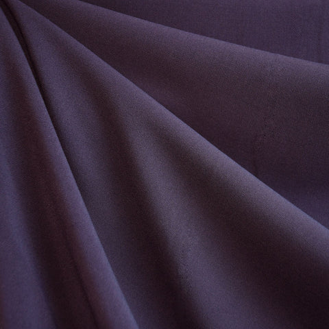 Stretch Double Twill Suiting Plum