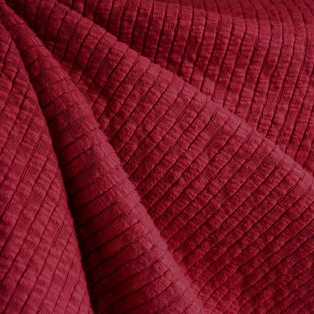 Chunky Ribbed Sweater Knit Scarlet - Sold Out - Style Maker Fabrics
