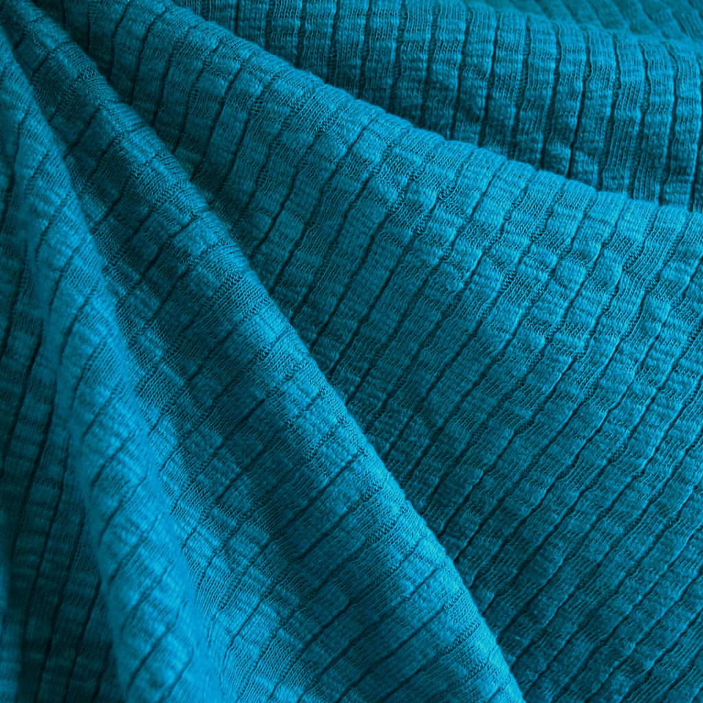 Chunky Ribbed Sweater Knit Teal - Sold Out - Style Maker Fabrics