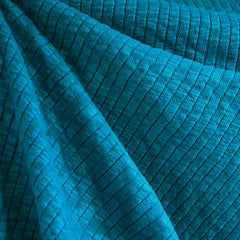 Chunky Ribbed Sweater Knit Teal - Fabric - Style Maker Fabrics