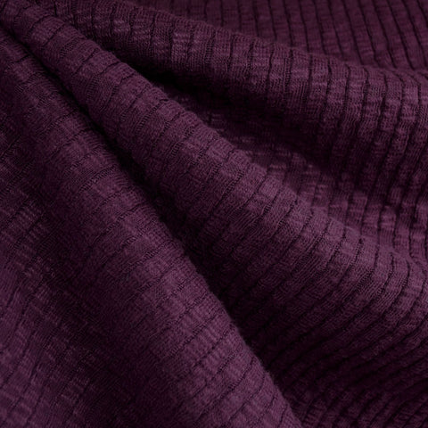 Chunky Ribbed Sweater Knit Aubergine