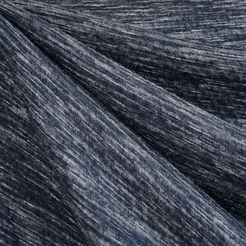 Textured Plush Double Knit Heather Navy SY - Sold Out - Style Maker Fabrics