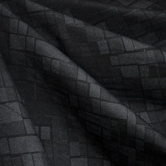Geometric Print Ponte Knit Tonal Black SY - Sold Out - Style Maker Fabrics