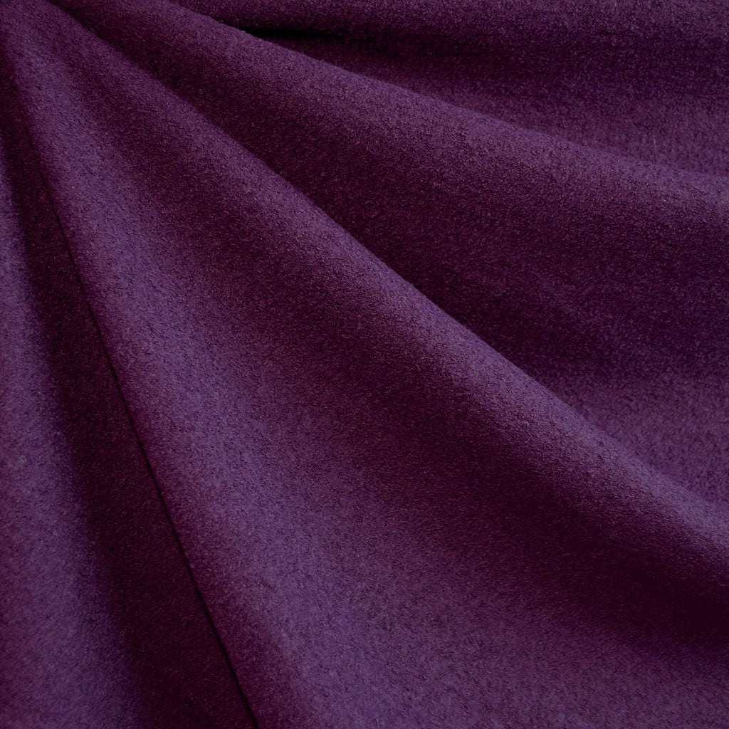 Boiled Wool Blend Coating Plum - Fabric - Style Maker Fabrics