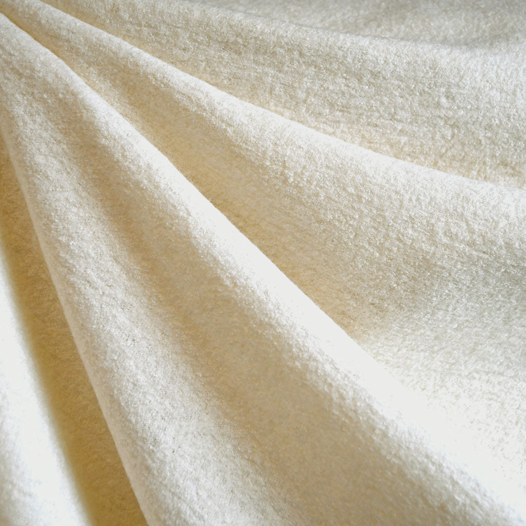 Boiled Wool Blend Coating Cream SY - Sold Out - Style Maker Fabrics