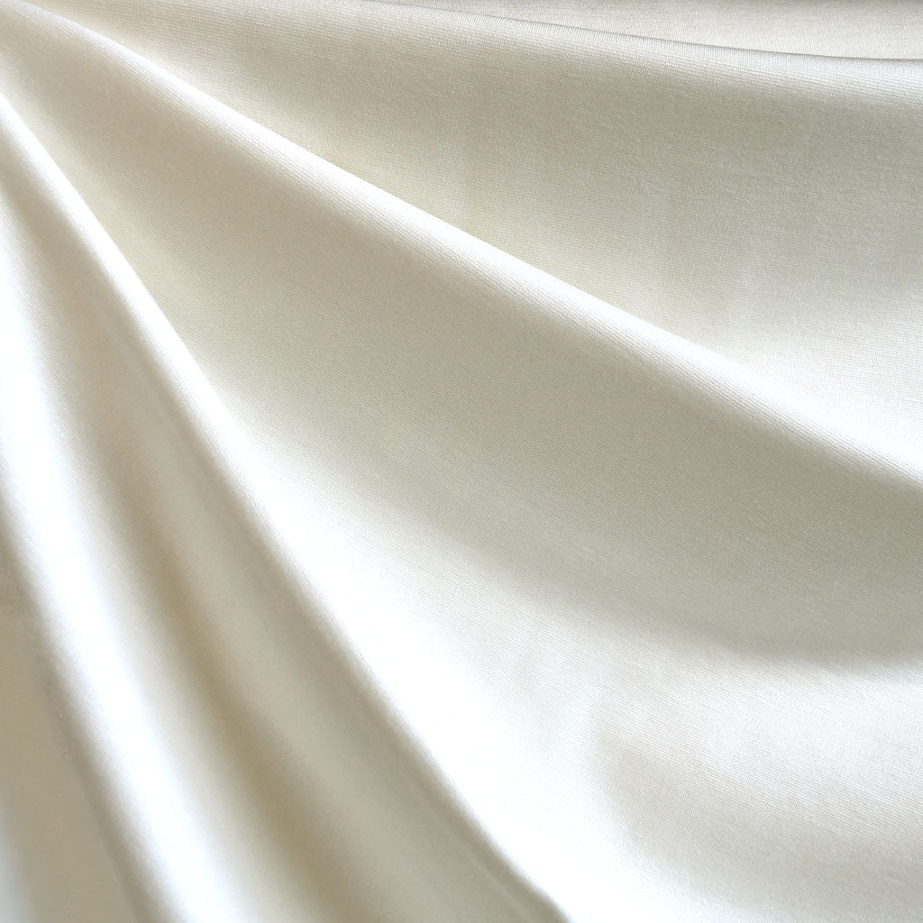 Classic Ponte Knit Solid Winter White - Fabric - Style Maker Fabrics
