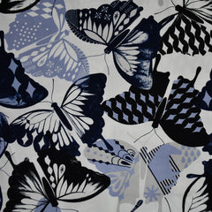 Flutter Butterfly Rayon Ivory SY - Sold Out - Style Maker Fabrics
