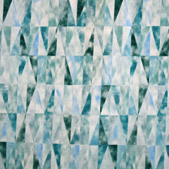 Japanese Mosaic Cotton Lawn Soft Teal - Sold Out - Style Maker Fabrics
