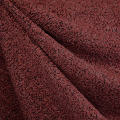 Textured Boucle Sweater Knit Garnet - Sold Out - Style Maker Fabrics
