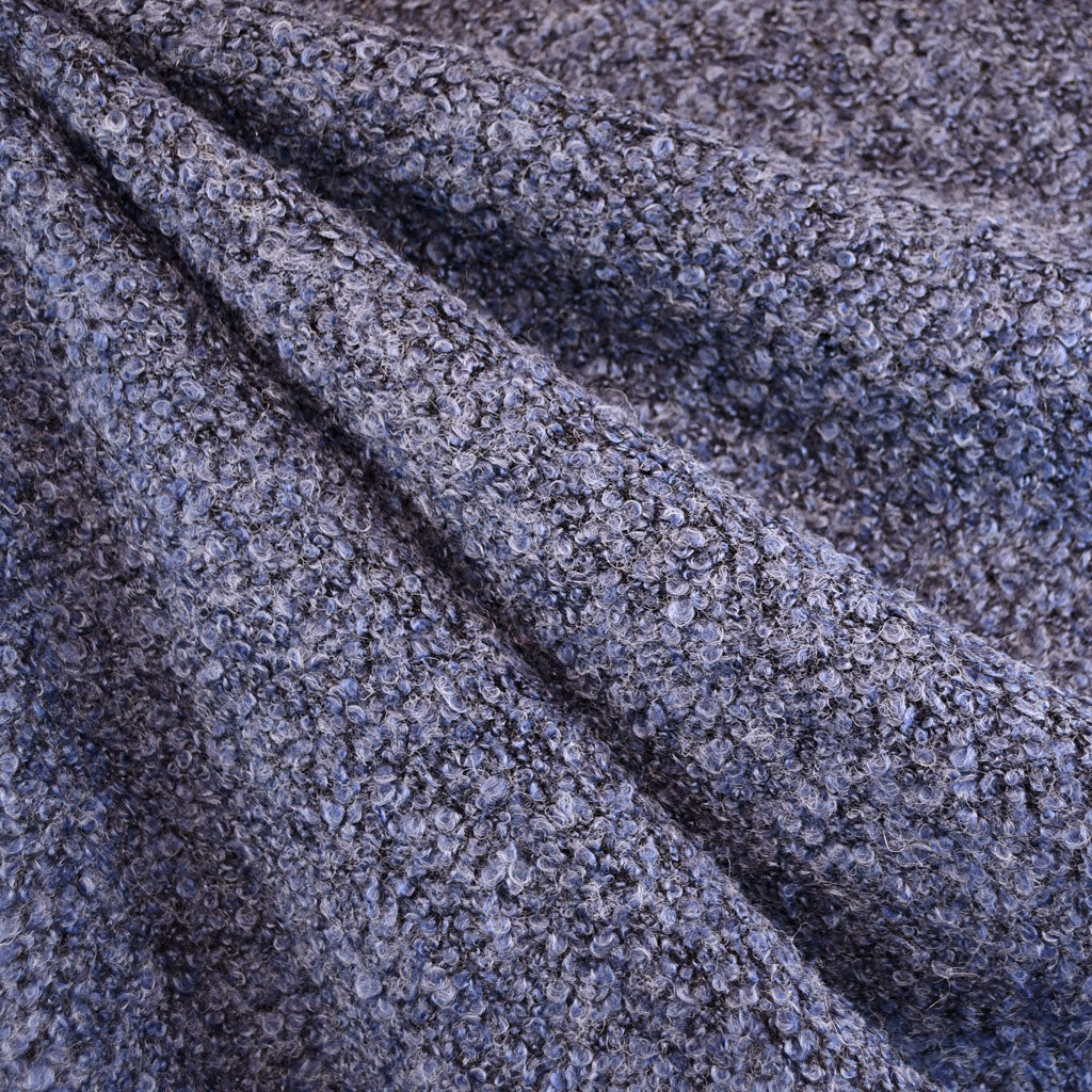 Textured Boucle Sweater Knit Periwinkle - Fabric - Style Maker Fabrics