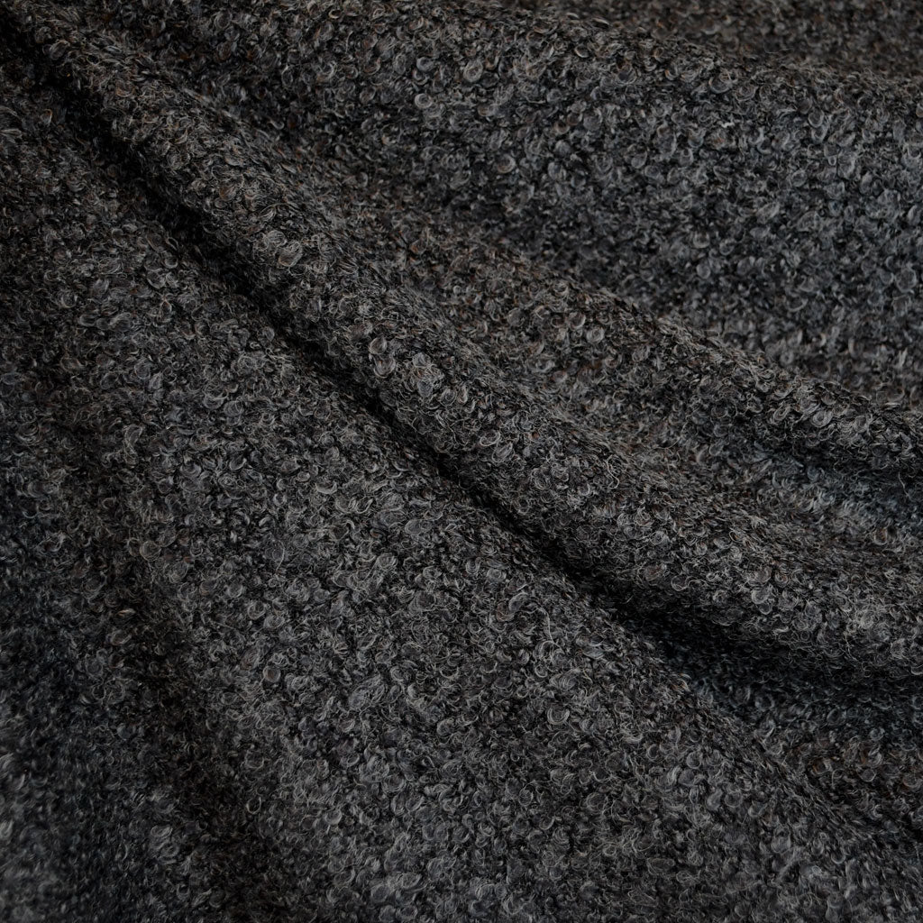 Textured Boucle Sweater Knit Charcoal - Fabric - Style Maker Fabrics