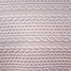 Quilted Cable Double Knit Ballet Slipper SY - Sold Out - Style Maker Fabrics