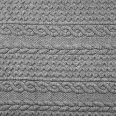 Quilted Cable Double Knit Heather Grey SY - Sold Out - Style Maker Fabrics