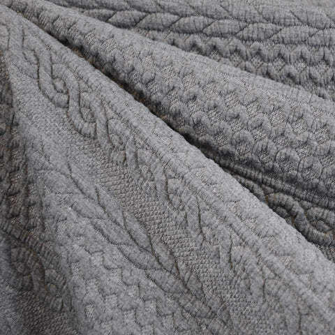Quilted Cable Double Knit Heather Grey