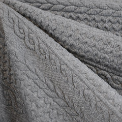 Quilted Cable Double Knit Heather Grey - Sold Out - Style Maker Fabrics