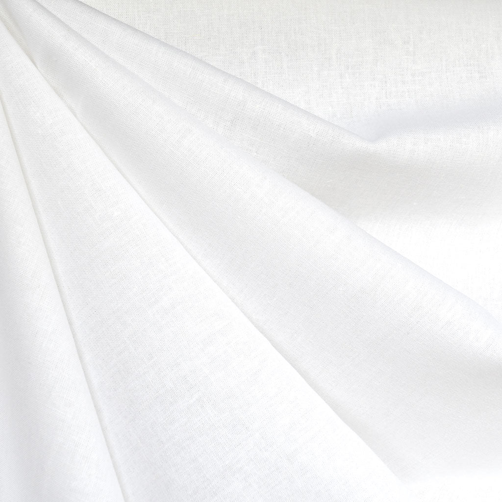 Brussels Washer Linen Blend Solid White - Fabric - Style Maker Fabrics