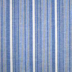 Chambray Stripe Linen Blend Shirting Blue/Cream - Sold Out - Style Maker Fabrics