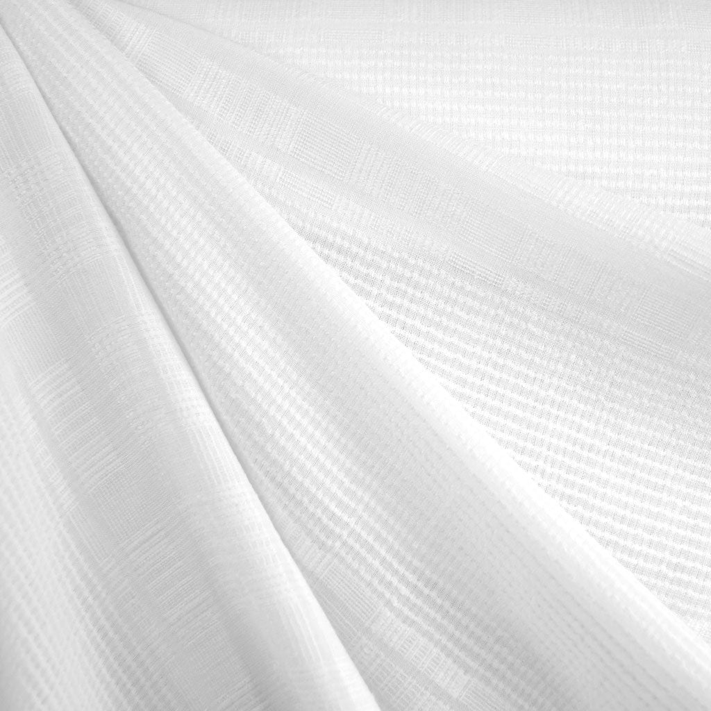Tonal Stripe Linen Blend Shirting White - Fabric - Style Maker Fabrics