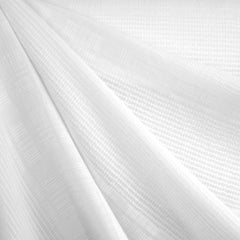 Tonal Stripe Linen Blend Shirting White - Sold Out - Style Maker Fabrics