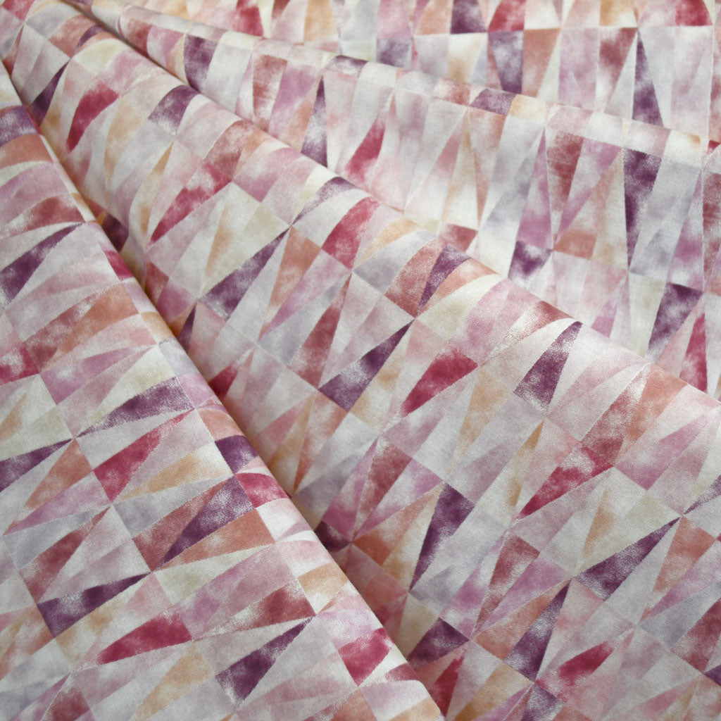 Japanese Mosaic Cotton Lawn Soft Plum - Sold Out - Style Maker Fabrics