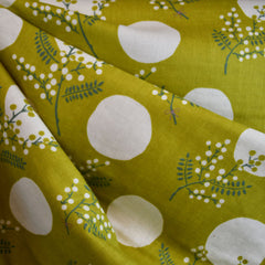 Japanese Double Gauze Spring Branch Dot Celadon - Fabric - Style Maker Fabrics