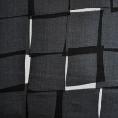 Japanese Double Gauze Interlocking Squares Black SY - Sold Out - Style Maker Fabrics