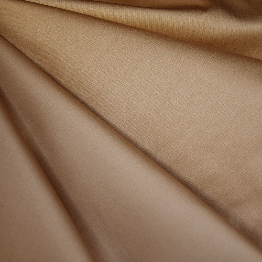 Stretch Sateen Solid Camel - Sold Out - Style Maker Fabrics
