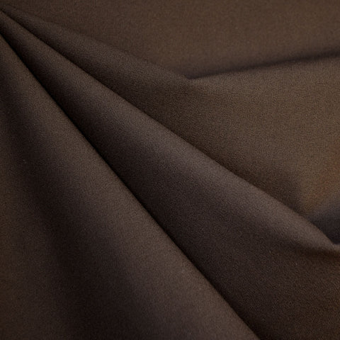 Designer Stretch Double Twill Suiting Chocolate