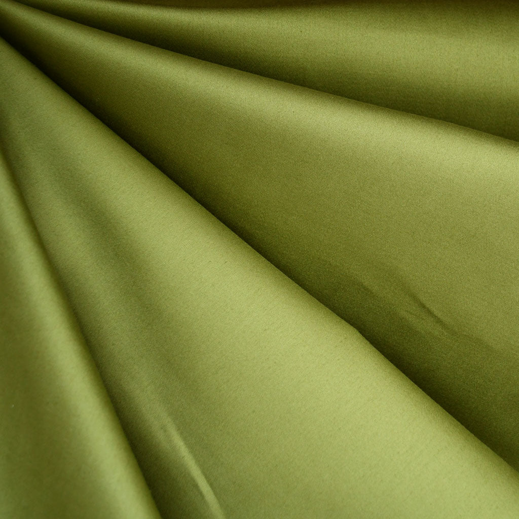 Stretch Sateen Solid Apple - Sold Out - Style Maker Fabrics