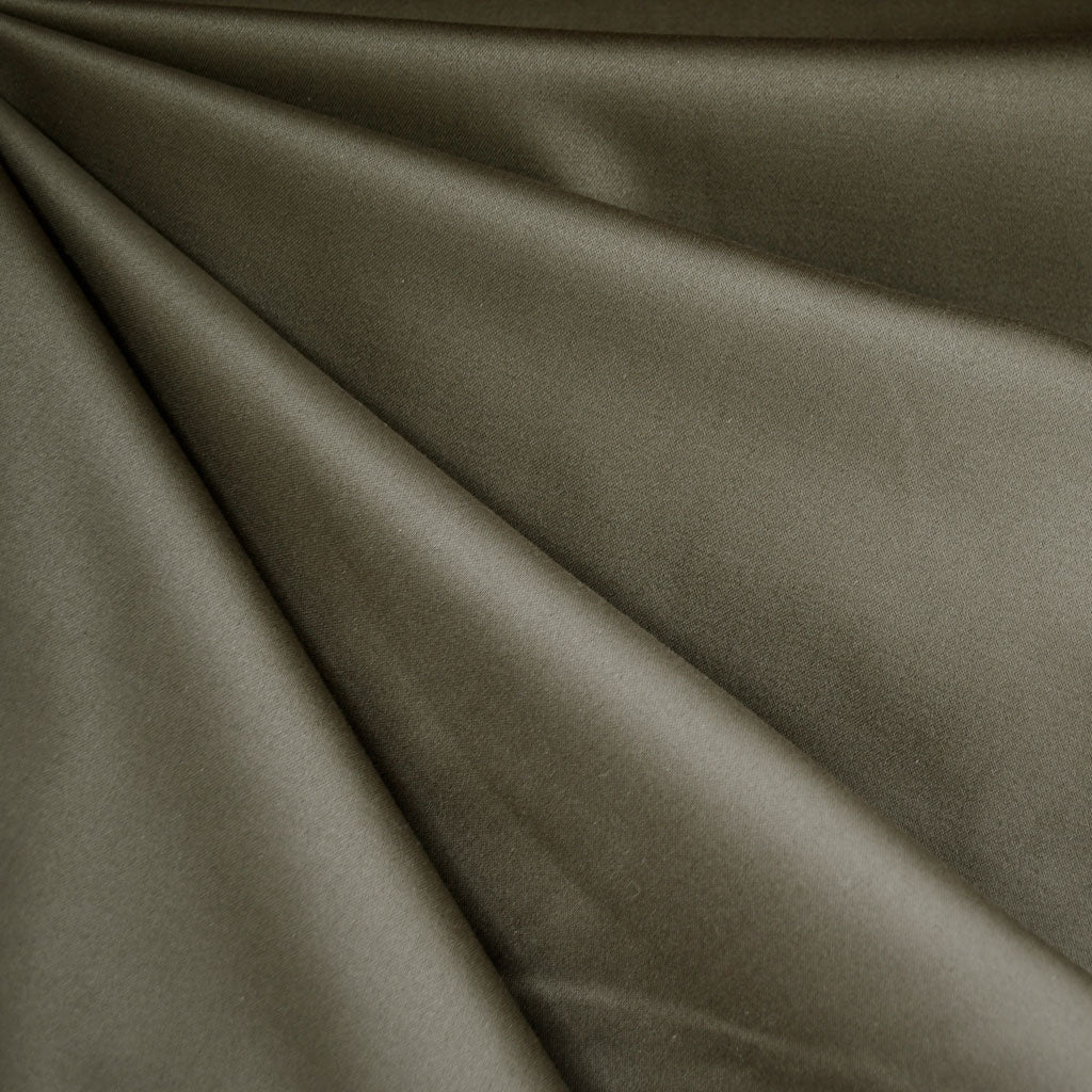 Stretch Sateen Solid Olive SY - Sold Out - Style Maker Fabrics