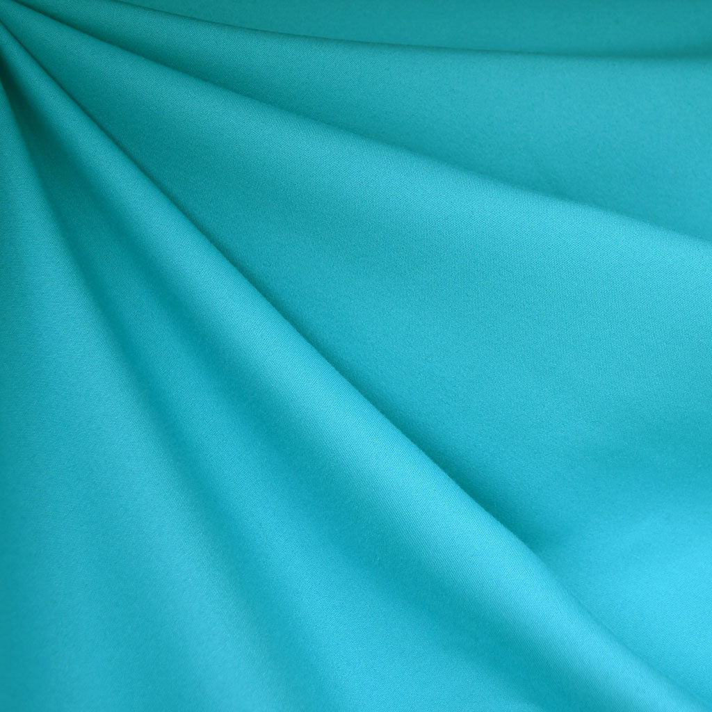Stretch Sateen Solid Turquoise - Fabric - Style Maker Fabrics
