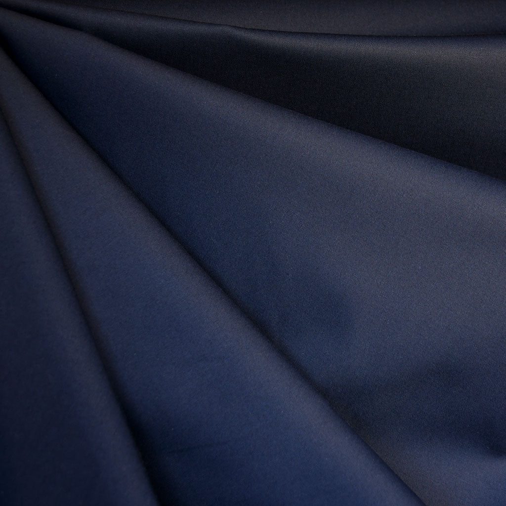 Stretch Sateen Solid Navy - Sold Out - Style Maker Fabrics