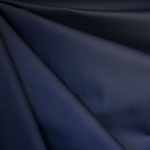 Stretch Sateen Solid Navy